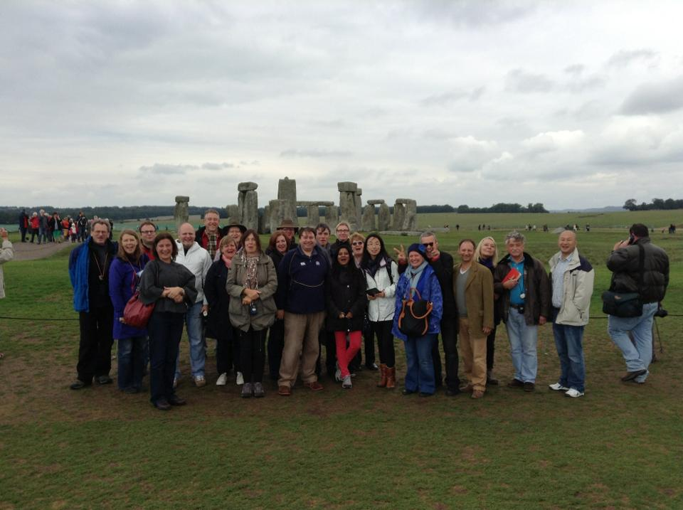 The group at Stonehenge